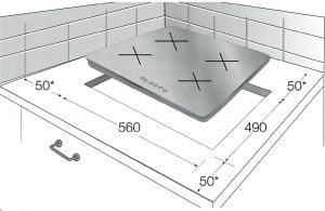 Dimensiuni Beko HII63400AT