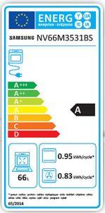 Eficienta energetica Samsung NV66M3531BS