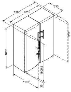 Liebherr SBSESF7212 dimensiuni