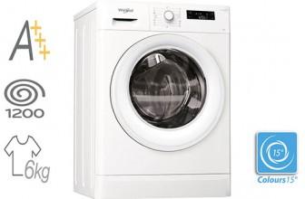 Whirlpool FreshCare+ FWSF61253W EU – Masina de spalat rufe Slim Clasa A+++
